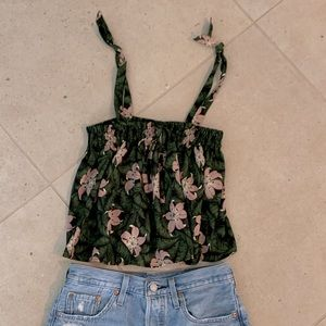 Topshop 4 adjustable crop blouse